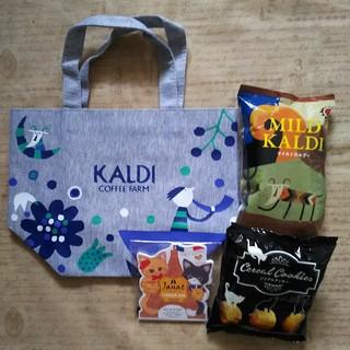 カルディ(KALDI)のトートバッグ&コーヒー&クッキー(トートバッグ)