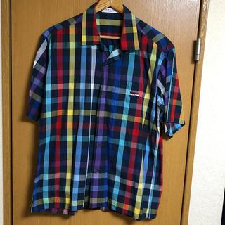 バジエスポーツ(VAGIIE SPORT)のVAGIIE sportsポケット刺繍チェックシャツ48(シャツ)
