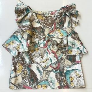 Lois CRAYON - 【上質美品◆rois crayon ロイスクレヨン】デザインフリルブラウス