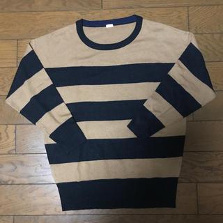 ジーユー(GU)のボーダー トップス(Tシャツ(長袖/七分))
