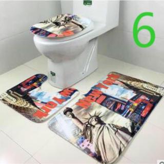 トイレマット バスマット ふたカバー3点セット (トイレマット)