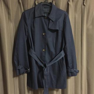ジーユー(GU)のスプリングコート ネイビー XL トレンチコート(スプリングコート)