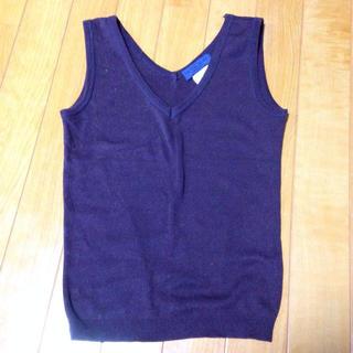 ルシェルブルー(LE CIEL BLEU)の新品 ルシェルブルー ノースリーブニット(カットソー(半袖/袖なし))