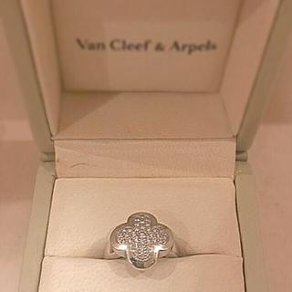 ヴァンクリーフアンドアーペル(Van Cleef & Arpels)のヴァンクリーフ&アーペルアルハンブラダイヤモンドリング(リング(指輪))