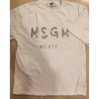 エムエスジイエム(MSGM)のaya様専用☆MSGM Tシャツ 限定品 シルバー×ホワイト(Tシャツ/カットソー(半袖/袖なし))