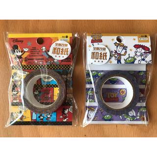 ディズニー(Disney)の【ディズニー】台湾製マステ「ミッキーとミニー」と「トイストーリー」セット(テープ/マスキングテープ)