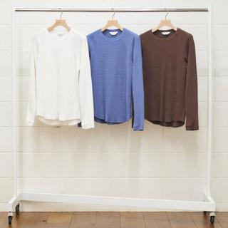 アンユーズド(UNUSED)のUNUSED アンユーズド サーマル ロンT ライトパープル サイズ1 新品(Tシャツ/カットソー(七分/長袖))
