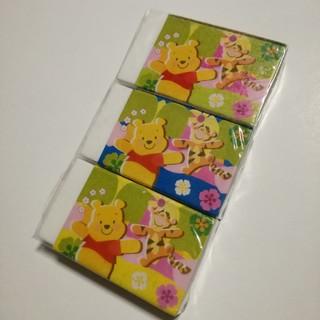 ディズニー(Disney)のくまのプーさん 消しゴム 3コセット 未開封(消しゴム/修正テープ)