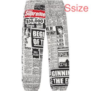 Supreme - Supreme newsprint skate pant white S