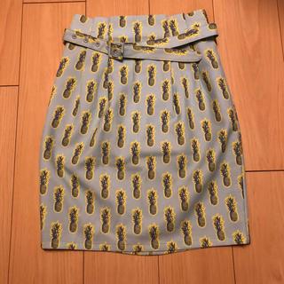 ツインルーム(TWNROOM)のパイナップル柄❤︎サマースカート(ひざ丈スカート)