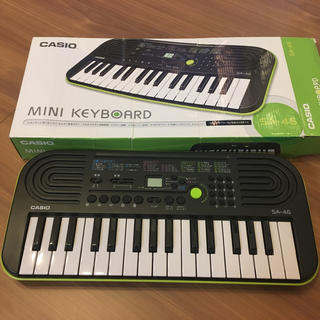 カシオ(CASIO)のカシオ  ミニ電子キーボード  SA-46(電子ピアノ)