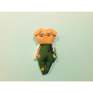 ミナペルホネン(mina perhonen)のハンドメイド ミナペルホネン  人形 ぬいぐるみ ドールチャーム (バッグチャーム)