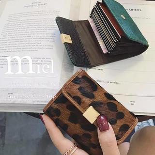 ビューティアンドユースユナイテッドアローズ(BEAUTY&YOUTH UNITED ARROWS)のLeopard Card Wallet(財布)