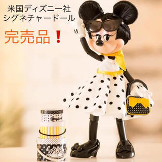 ディズニー(Disney)のディズニー シグネチャードール ミニー ドットホワイトワンピ(その他)