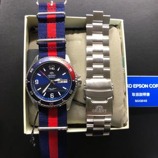 オリエント(ORIENT)のオリエント MAKO ペプシカラー NATOベルト付き 美品 綺麗 (腕時計(アナログ))