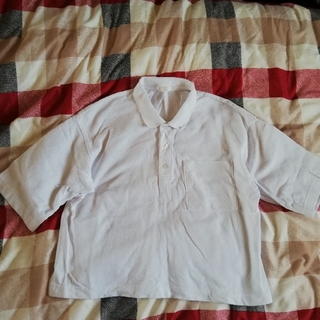 ジーユー(GU)のGU  白 オーバーサイズ ポロ(ポロシャツ)