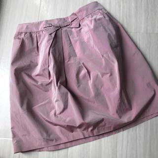 イエナ(IENA)のIENA オーロラ ピンク スカート(ひざ丈スカート)
