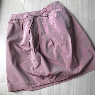 ハニーミーハニー(Honey mi Honey)のIENA オーロラ ピンク スカート(ひざ丈スカート)
