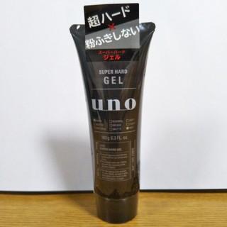 ウーノ(UNO)の【新品未開封】ウーノ スーパーハードジェル 180g(ヘアムース/ヘアジェル)