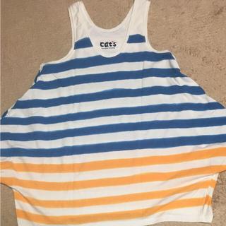 ツモリチサト(TSUMORI CHISATO)のTSUMORI CHISATO cat'sボーダーTシャツ(Tシャツ(半袖/袖なし))