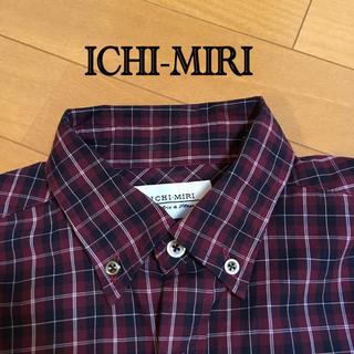 イチミリ(ichi-miri)の《美品》ICHI-MIRI 長袖チェックシャツ(シャツ)