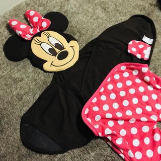 ディズニー(Disney)のミニー おくるみ ディズニー ブランケット(おくるみ/ブランケット)