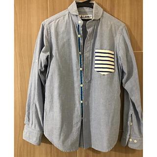 ユニクロ(UNIQLO)のSCHIATTI デニムシャツ ブルー  綿100%(シャツ)