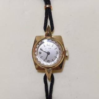 ゼニス(ZENITH)のZENITH ゼニス 18K ヴィンテージ手巻きレディースウォッチ(腕時計)