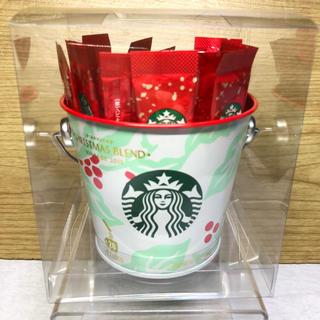 Starbucks Coffee - 新品未開封☆スターバックス ホリデー クリスマスブレンド ヴィア20本入りバケツ