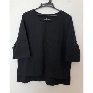 MUJI (無印良品) - 無印良品 Tシャツ(ブラック)