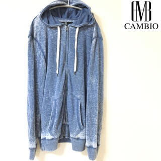 カンビオ(Cambio)の【CAMBIO】パーカー(40)カンビオ 青(パーカー)