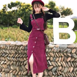 dholic - 【即日発送】1点のみ!大人気のセットアップ!ジャンスカ風 ビスチェ スカート