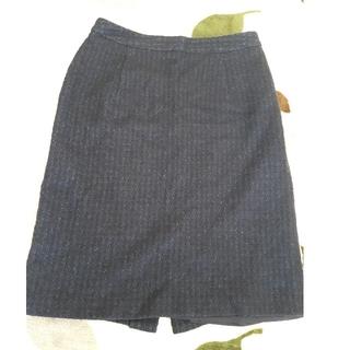 アストリアオディール(ASTORIA ODIER)の【ASTORIA】膝丈タイトスカート(紺色)(ひざ丈スカート)
