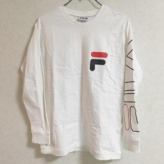 ジャーナルスタンダード(JOURNAL STANDARD)のB.C STOCK FILA コラボ ロゴ ロングTシャツ(Tシャツ(長袖/七分))
