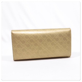ゲラルディーニ(GHERARDINI)の美品■ GHERARDINI ゲラルディーニ 長財布 パスケース付き ゴールド (財布)