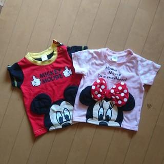 ディズニー(Disney)のディズニー ミッキー ミニー トップス セット おそろい(Tシャツ)