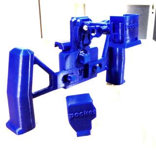 オリジナル(Original)のosmo pocket用ホルダー&スマホホルダー 3Dプリンター製 [ブルー](その他)
