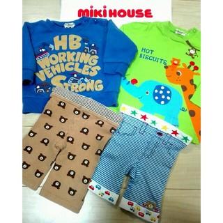 ミキハウス(mikihouse)のミキハウス◆コーデ完成!ロンTスパッツ4点福袋◆80センチ(Tシャツ)