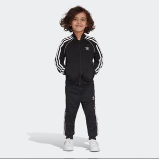 アディダス(adidas)の新品 アディダス ジャージ 上下 セットアップ キッズ 120 黒 ブラック(その他)