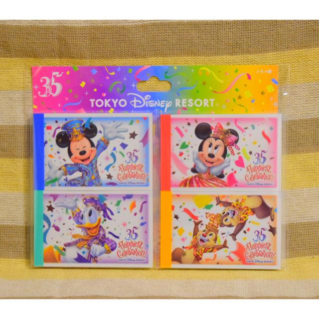 Disney(ディズニー)の35周年★メモセット エンタメ/ホビーのおもちゃ/ぬいぐるみ(キャラクターグッズ)の商品写真