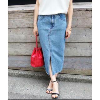 イエナ(IENA)のIENA USEDデニム リメイクスカート 34(ひざ丈スカート)