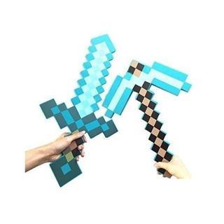 ダイヤモンドソード&斧 マインクラフト マイクラ 武器 ソード ツルハシ 2点(小道具)