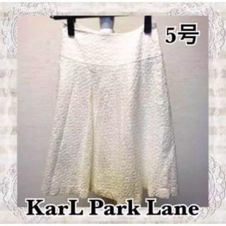 カールパークレーン(KarL Park Lane)のカールパークレーン 膝丈 レース 花柄スカート オフホワイト 5号(ひざ丈スカート)