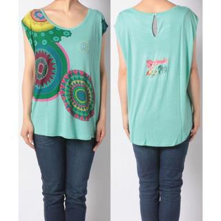 デシグアル(DESIGUAL)の新品♡定価7900円 デシグアル Tシャツ グリーン系 X XLサイズ(Tシャツ(半袖/袖なし))