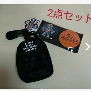 ジーユー(GU)のGU studio sevenショルダーウォレット 缶バッジ NAOTO(ショルダーバッグ)