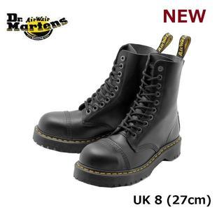 ドクターマーチン(Dr.Martens)の【ドクターマーチン】8761 UK8 BXB 10ホール スチールトゥ 黒 くろ(ブーツ)
