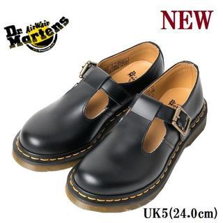 ドクターマーチン(Dr.Martens)の【ドクターマーチン】UK5 ポリー ストラップ シューズ 黒 くろ(ローファー/革靴)