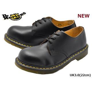 ドクターマーチン(Dr.Martens)の【ドクターマーチン】UK3 スチールトゥ 3ホール シューズ 黒 くろ(ローファー/革靴)