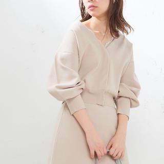 ナチュラルクチュール(natural couture)のnatural couture きれいめニットジャケットカーデ(カーディガン)