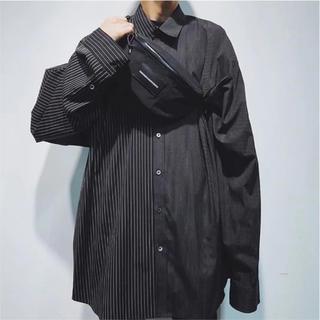 ドレスドアンドレスド(DRESSEDUNDRESSED)のドレスドアンドレスド XXL PINSTRIPE shirt  MIDWEST(シャツ)